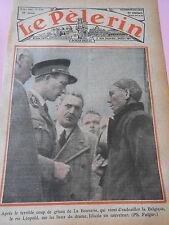 Coup de Grisou de la Bouverie Le Roi Léopold sur les lieux du drame Print 1936