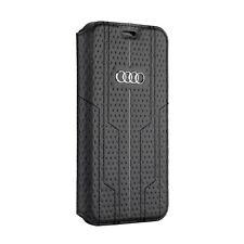 Audi a6 serie de piel iPhone XR book case cover funda negra