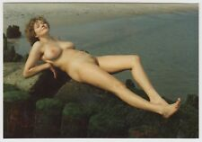 Nudism NUDE WOMAN RECLINING AT ROCKY BEACH / AKTFOTO F K K * 80s Amateur Photo