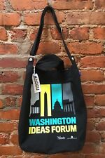 BAGGU Duck Bag Canvas Tote Black Convertible Crossbody WASHINGTON DC IDEAS FORUM