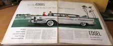 New ListingEdsel-[ Citation ]-< 1957 >{Original 2 Page Old Car Ad}-File 530/5