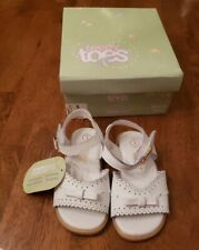 Teeny Toes Baby Girl White soft leather Sandal Size 3 New with Tags