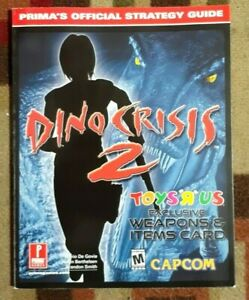 Dino Crisis 2 Prima Strategy Game Guide +  Sealed Section & Weapons Items Card
