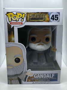 Funko Pop! Movies HOBBIT #45 GANDALF W/Pop Protector Vaulted Lord Of The Rings