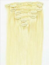 "7Pcs 16""18""20""22""24""26""30"" Full Head Clip In Remy 100% Real Human Hair Extension"