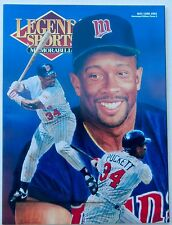 KIRBY PUCKETT 1993 LEGENDS SPORTS MEMORABILIA  MAGAZINE   NO LABELS