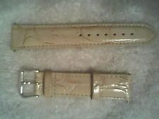 New Timex Leather Band Strap White Brown For Watch 20mm