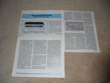 Kenwood KT-917 Super Tuner Review, 1979, Full Test,3 pg