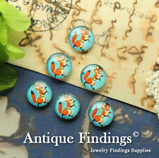 10PCS 12mm Photo Fox Handmade Glass Dome Cabochon Cameo Cover Cabs BCH209F
