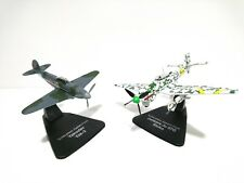SET OF 2 AIRCRAFTS 1:72 Atlas WW2 -JUNKERS STUKA + YAKOVLEV YAK 3- MODEL 021