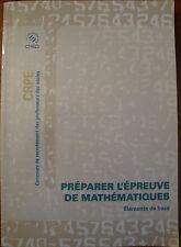Préparer l'épreuve de Mathématiques - 3 volumes - CRPE