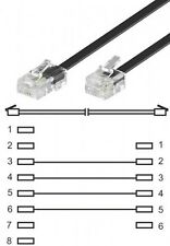 3m goobay modularanschlußkabel dsl kabel rj45 8p4c an rj11 6p4c flach schwarz