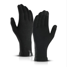 Men's Thermal Knitted Full Finger Gloves Winter Warmer Cold Mitts Touchscreen