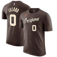 New Portland Trail Blazers Damian Lillard Nike 2020/21 City Edition Name T-Shirt