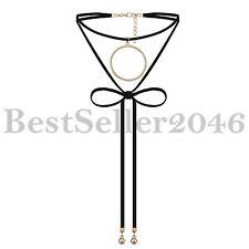Vintage Gothic Black Velvet Choker Collar Bib Necklace Charm Pendant Jewelry NEW