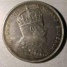 1904-B(incuse)  Straits Settlements Dollar Edward VII KM 25 $1 aUNC