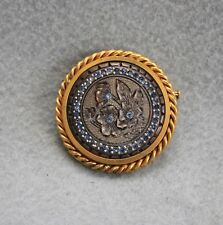 Victorian French Imported Tortoise Shell Brooch