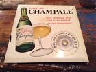 Vintage Sparkling Champale Beer Sign Tin Tacker TOC Thermometer Man Cave