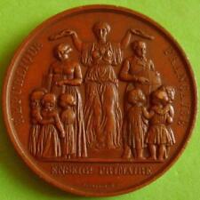 L@@k Art Nouveau Marianne Crowning Teachers Education Bronze Medal bt FAROCHON!