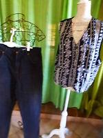 homme= T 3-4  le gilet noir blanc double et le pantalon jeans  offert