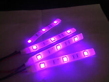 PINK 5050 SMD LED 4 STRIPS 3 LED EACH  FITS  TRIUMPH MOTORCYCLES TOTAL 12 LEDS