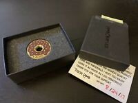 Lamb Crafted Tyson Brown Leather Ice Ball Marker Golf Leather Brass Donut Retire