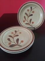 Premiere Potterskraft Wild Berries P5026. Set of 4 Salad Plates 7 3/4""