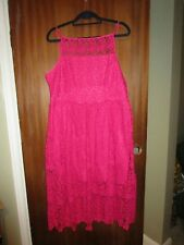 River island plus size dress size 20 pretty pink