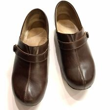 DANSKO Solstice Woman's Chocolate Leather Slip On Clogs/Shoes- Size 39/8.5-9