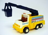 "FISHER-PRICE POWER & LIGHT #339 Vintage 11"" Utility Truck 1983"