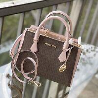 Michael Kors Women Leather Crossbody Bag Handbag Purse Satchel Messenger Brown