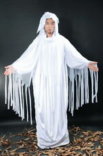 Men's Ghastly Haunting White Ghost Halloween Fancy Dress Costume