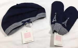 NWT 1 Set Janie and Jack Beret & Mittens Size 6-8