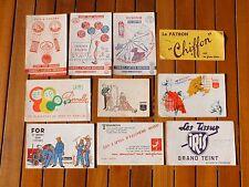 + Lot 10 buvards thème couture: tissus, fils, laine (Cartier Bresson...) +