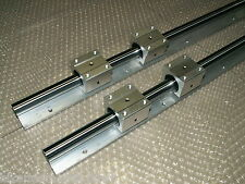 SBR16-750mm 16MM LINEAR SLIDE GUIDE SHAFT 2 RAIL+4 SBR16UU BEARING BLOCK CNC SET