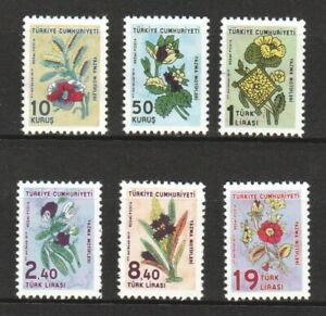 TURKEY 2019 COLOURED COTTON KERCHIEF MOTIFS THEMED OFFICIAL STAMP 6 STAMPS MINT