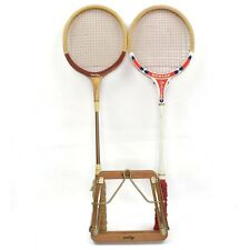 2 Vintage Dunlop Squash Racquet Red Flash and 1 Press Made in England Japan