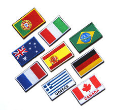 LOTS EUROPE ASIA NATIONAL FLAG SEW EMBROIDERED PATCH SHOULDER FLASH BADGE CA