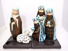 Christmas Partylite Nativity Shepherd & Three Kings Tealight Candle Holder