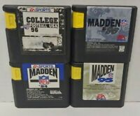 Madden 94 95 96 College 96 NCAA USA - Sega Genesis Working 4 Game Lot Games