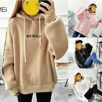 Women Hoodie Sweatshirt Hooded Sweater Coat Pullover Long Sleeve Jumper Tops 998
