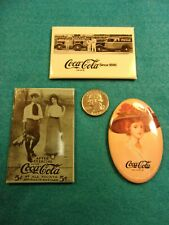 "Three Excellent Vtg Coca-Cola Coke Advertising Collectible Mirrors, ""Victorian"""