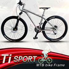 TiSport/Titanium 34 Head tube Integral tail hook MTB Frame Disc brake
