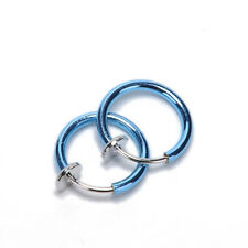 2X Unisex Spring Non-Piercing Fake Septum Nose Lip Belly Ear Ring Hoop Cli NMCA
