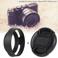 43mm Metal Lens Hood with Plastic Lenses Cap for Leica Photography Accessory SP