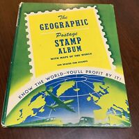 WORLDWIDE POSTAGE STAMP ALBUM GEOGRAPHIC LOT FROM MANY COUNTRIES