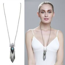 Fashion Jewelry Retro Style Long tassel Sweater Chain Women's Necklace Hot