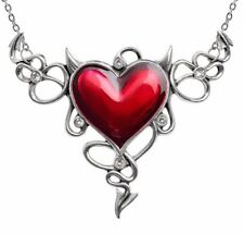 Huge Naughty Love Devil Red Heart Horns Généreux Necklace Alchemy Gothic ULFP25