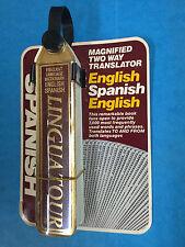 Linguatour Spanish English Pocket Travel Dictionary Flip Book Two-Way Translator