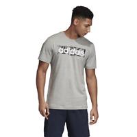 Adidas Men Tshirt Running Logo Box Tee Graphic Fashion Grey Training New DV3044